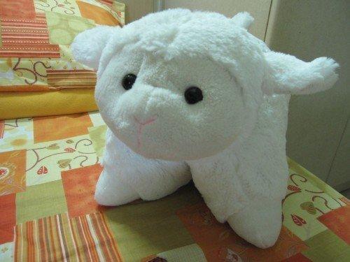 a plush-transforming-to-pillow sheep!!!