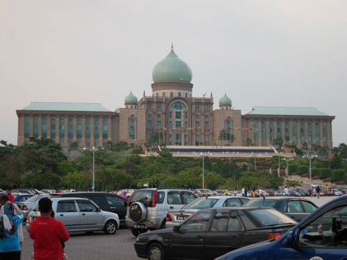 Perdana Putra from afar. Prime Minister's office.