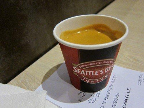 SBC's medium espresso