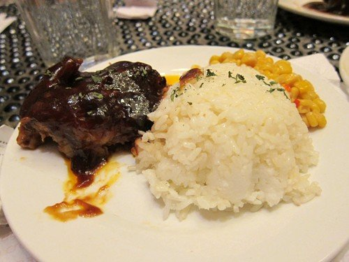 Jopy's order: barbecued ribs