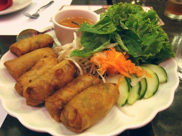 Crispy spring rolls, P195 at Zao Vietnamese Bistro