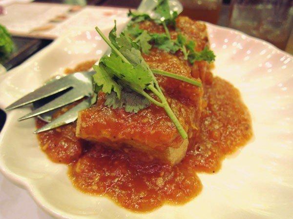 Stuffed tofu, P185