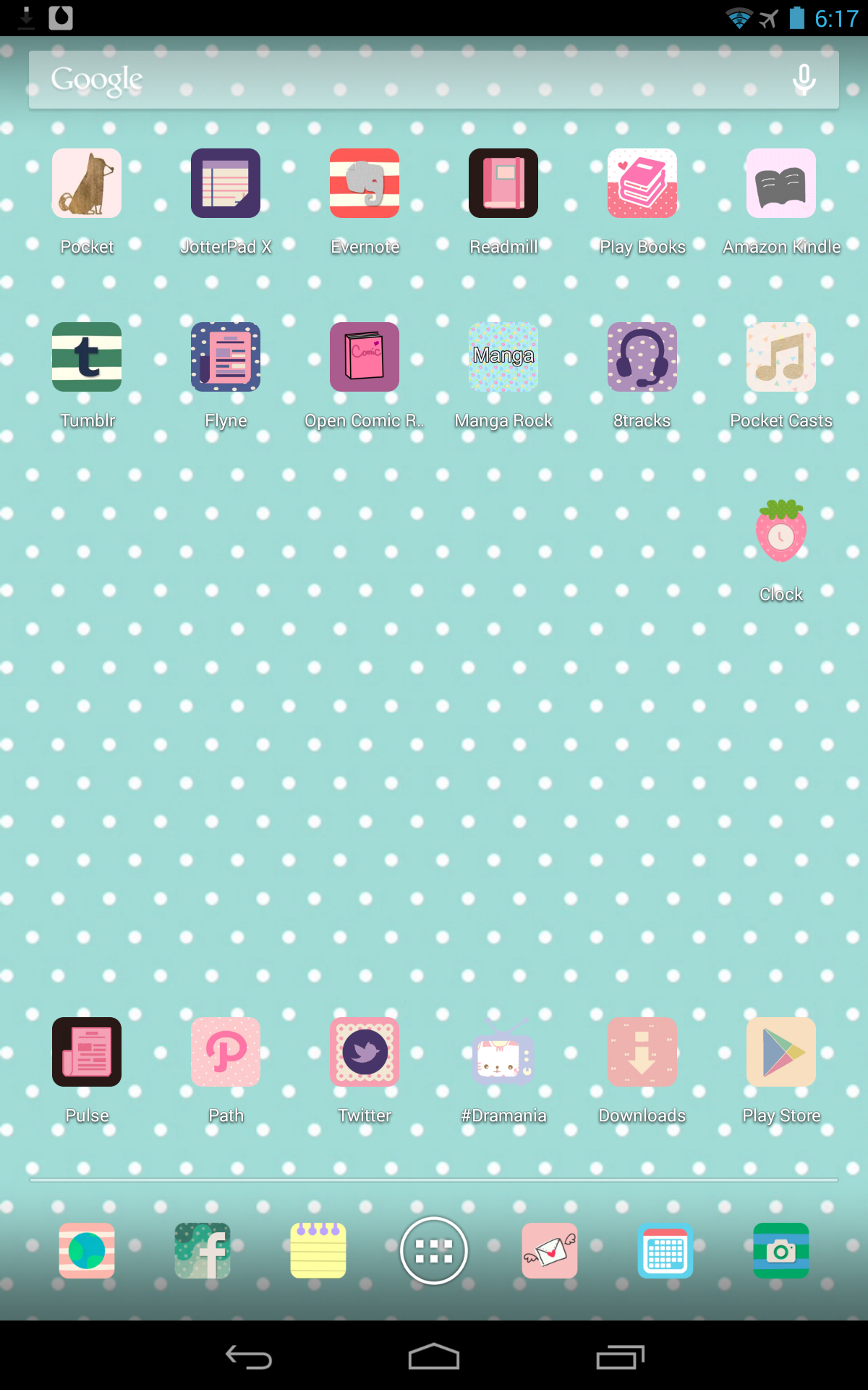 home screen with cocoppa